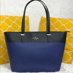 🌸OFFERS?🌸Kate Spade All Leather Two Tone ZipTote